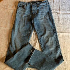 AG Stevie Ankle Raw Hem Jeans